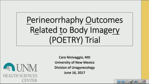 The Perineorrhaphy Outcomes Related To Body Imagery POETRY Trial